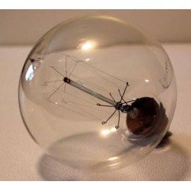 Ampoule globe à filament, ancienne
