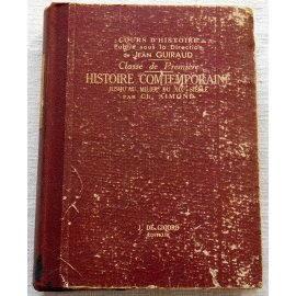 Histoire contemporaine - Ch. Aimond - J. de Gigord, 1939