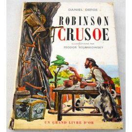 Robinson Crusoé - D. Defoe - F. Rojankowsky - Éditions des deux coqs d'or, 1961