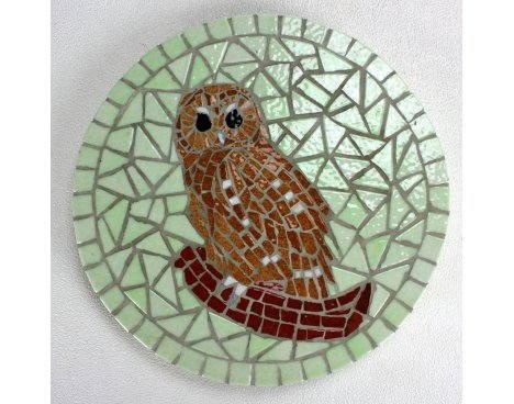 Dessous de plat, chouette mosaïque