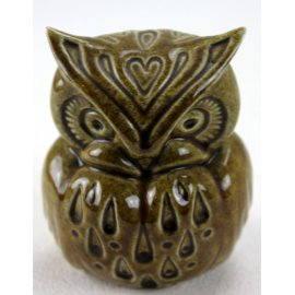 Chouette en céramique, ancienne