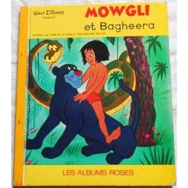 Mowgli et Bagheera - Les Albums Roses, Hachette 1969