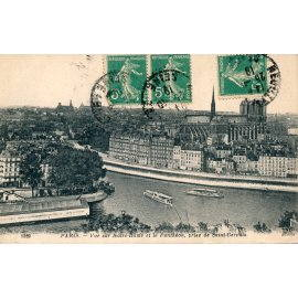 Paris - Vue sur Notre-Dame et le Panthéon