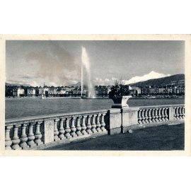 Genève - Jet d'Eau et le Mont-Blanc