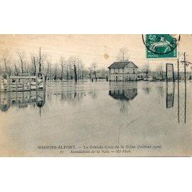 Maisons-Alfort - La grande crue de la Seine