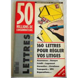 160 lettres pour régler vos litiges - 50 millions de consommateurs, 1992