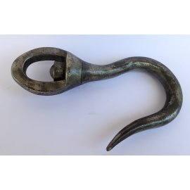 Crochet à émerillon en acier forgé