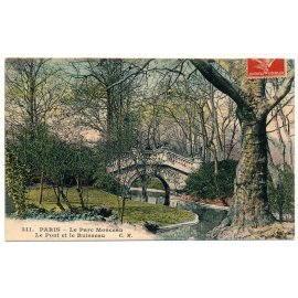 Paris, Parc Monceau - Le Pont et le Ruisseau