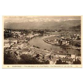 Grenoble - Vue générale de l'Ile Verte