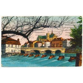 Metz - Vue prise de l'Ile de Saulcy