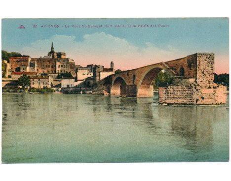 Avignon - Le Pont St-Bénézet et le Palais des Papes