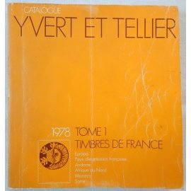 Catalogue de timbres-poste Yvert et Tellier 1978 - Tome 1 - Timbres de France