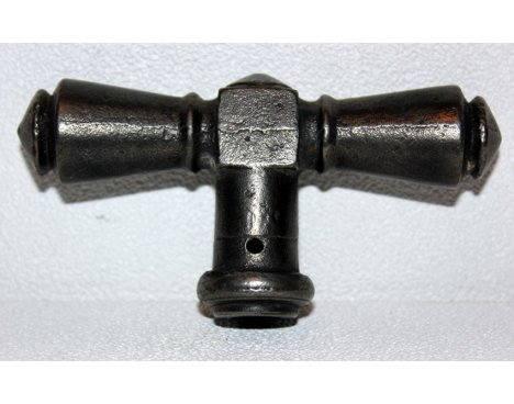 Poign e de porte en fer forg ancienne octo puces for Porte fer forge ancienne